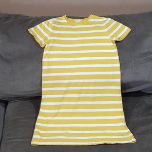 Tee-shirt Dress Dress yellow and white stripe
